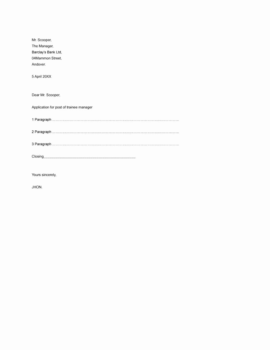 Formal Business Letter Template Inspirational 35 formal Business Letter format Templates & Examples