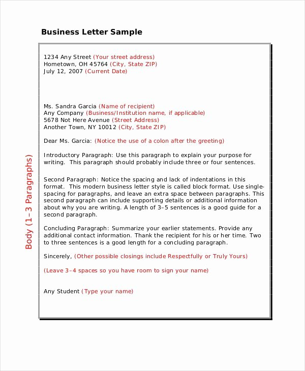 Formal Business Letter Template Inspirational Business Letter format 12 Free Word Pdf Documents