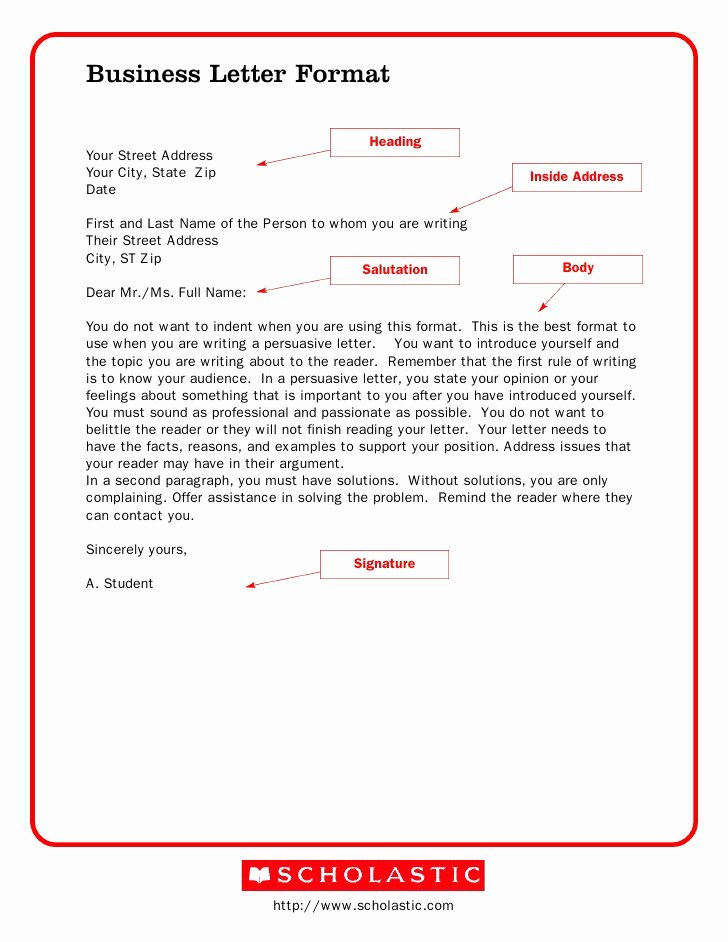 Formal Business Letter Template Lovely Business Letter format – Download Samples Of Business