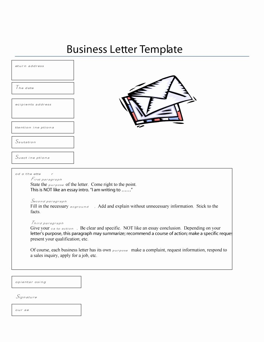 Formal Business Letter Template Unique 35 formal Business Letter format Templates & Examples