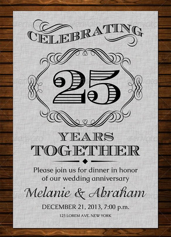 Free 50th Anniversary Invitation Templates Awesome Anniversary Card Templates – 12 Free Printable Word Pdf