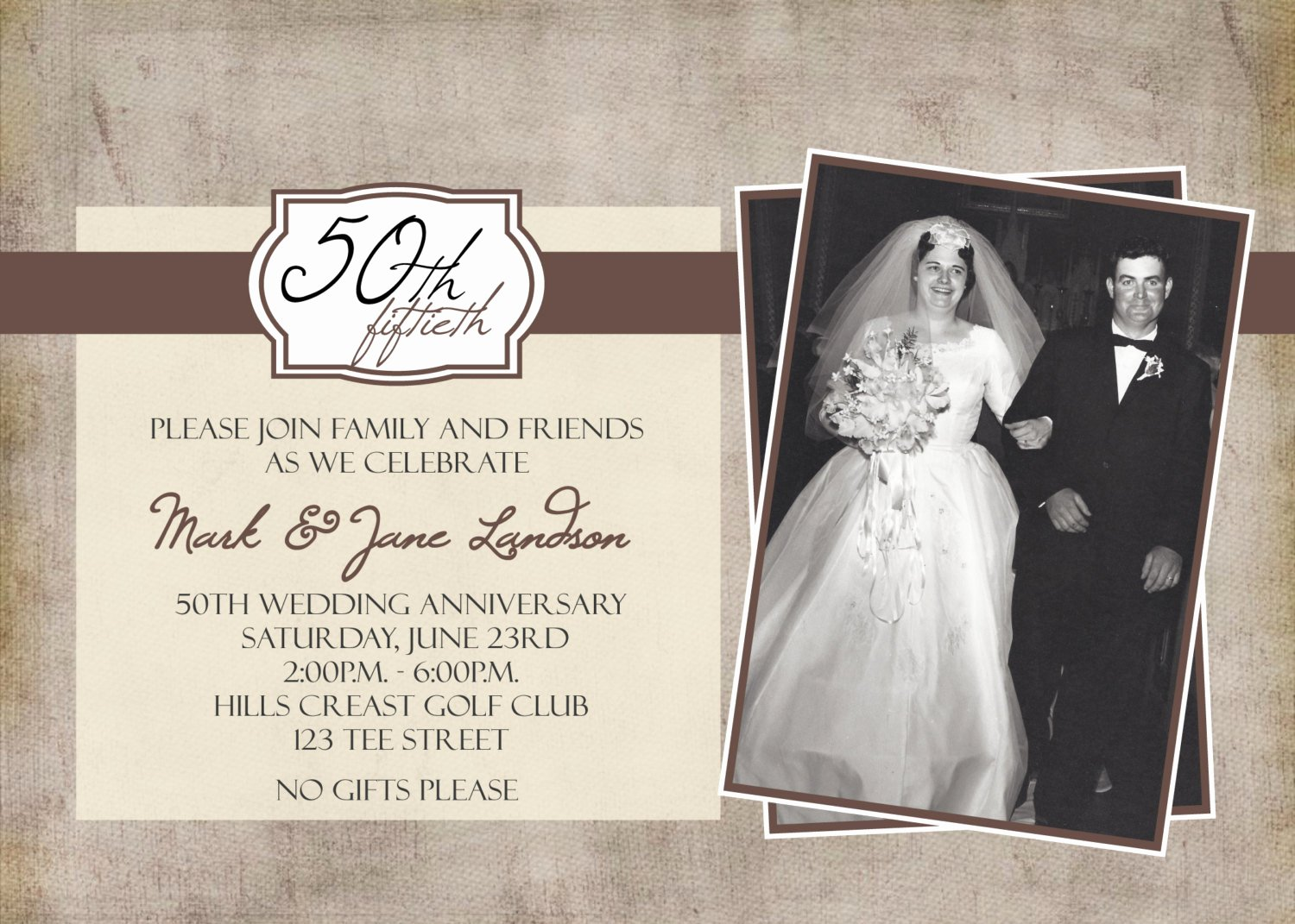 Free 50th Anniversary Invitation Templates Beautiful 50th Anniversary Party Printable Invitation