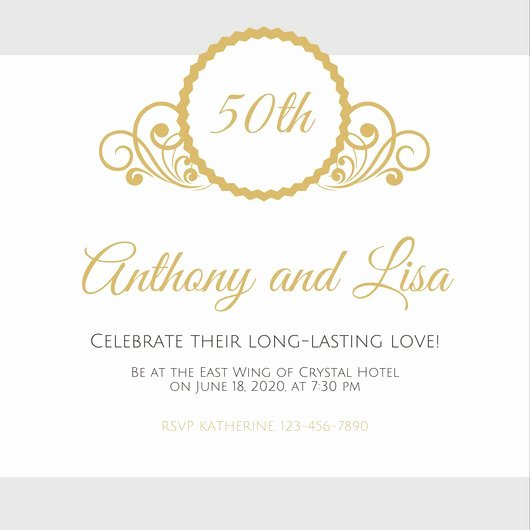 Free 50th Anniversary Invitation Templates Beautiful Customize 1 796 50th Anniversary Invitation Templates