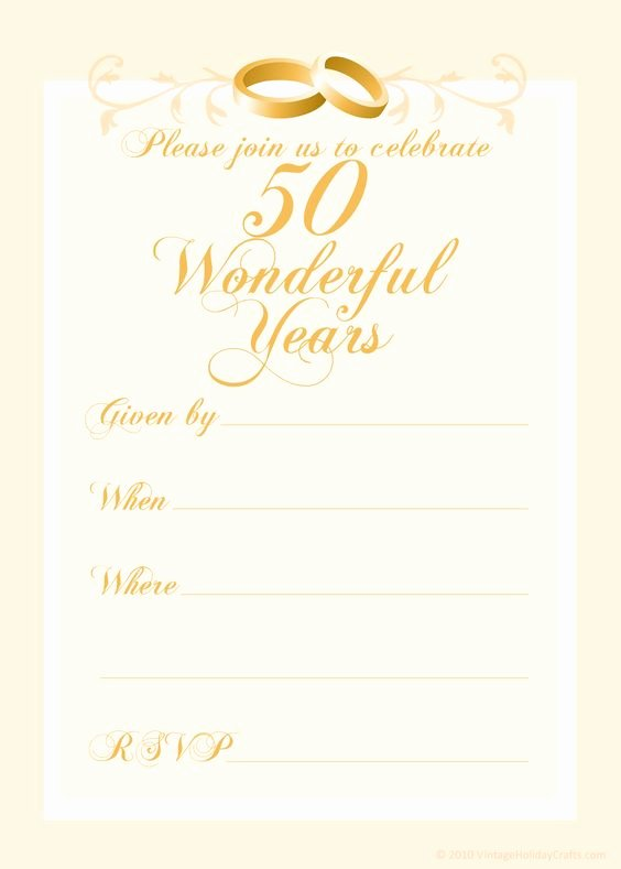 Free 50th Anniversary Invitation Templates Beautiful Free 50th Wedding Anniversary Invitations Templates