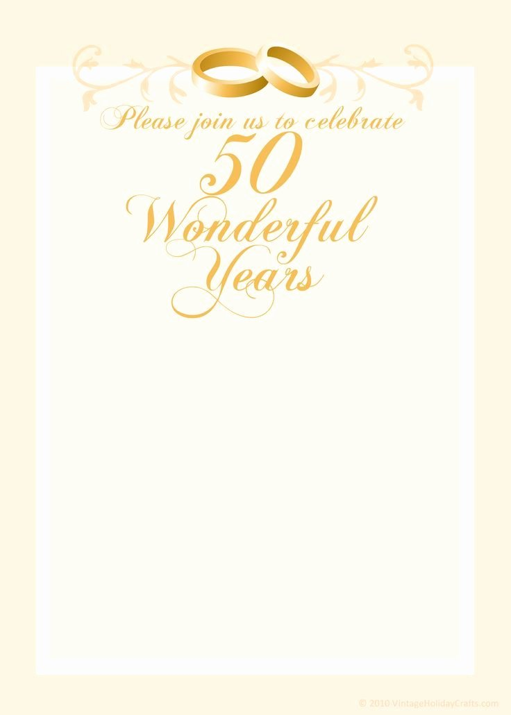 Free 50th Anniversary Invitation Templates Beautiful Free Anniversary Invitation Templates
