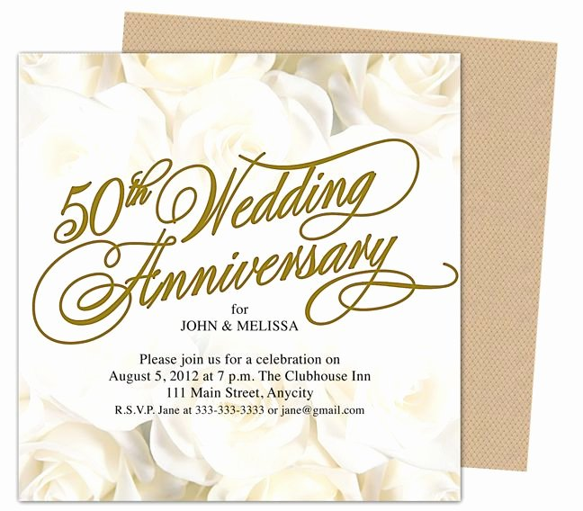 Free 50th Anniversary Invitation Templates Best Of 9 Best 25th & 50th Wedding Anniversary Invitations