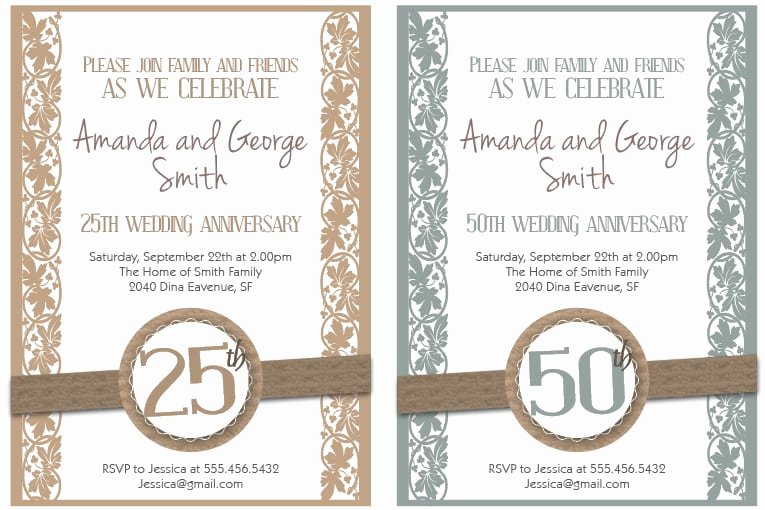 Free 50th Anniversary Invitation Templates Best Of Printable Free 50th Anniversary Invitation
