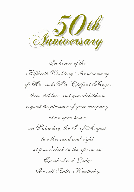 Free 50th Anniversary Invitation Templates Elegant Free Wedding Templates