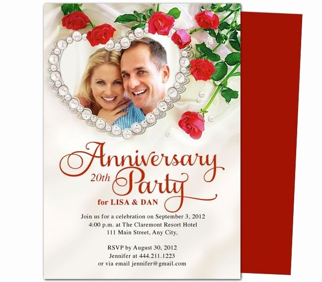 Free 50th Anniversary Invitation Templates Elegant Heart Frame Anniversary Invitation Template