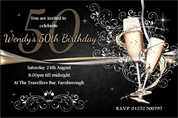 Free 50th Anniversary Invitation Templates Inspirational 45 50th Birthday Invitation Templates – Free Sample