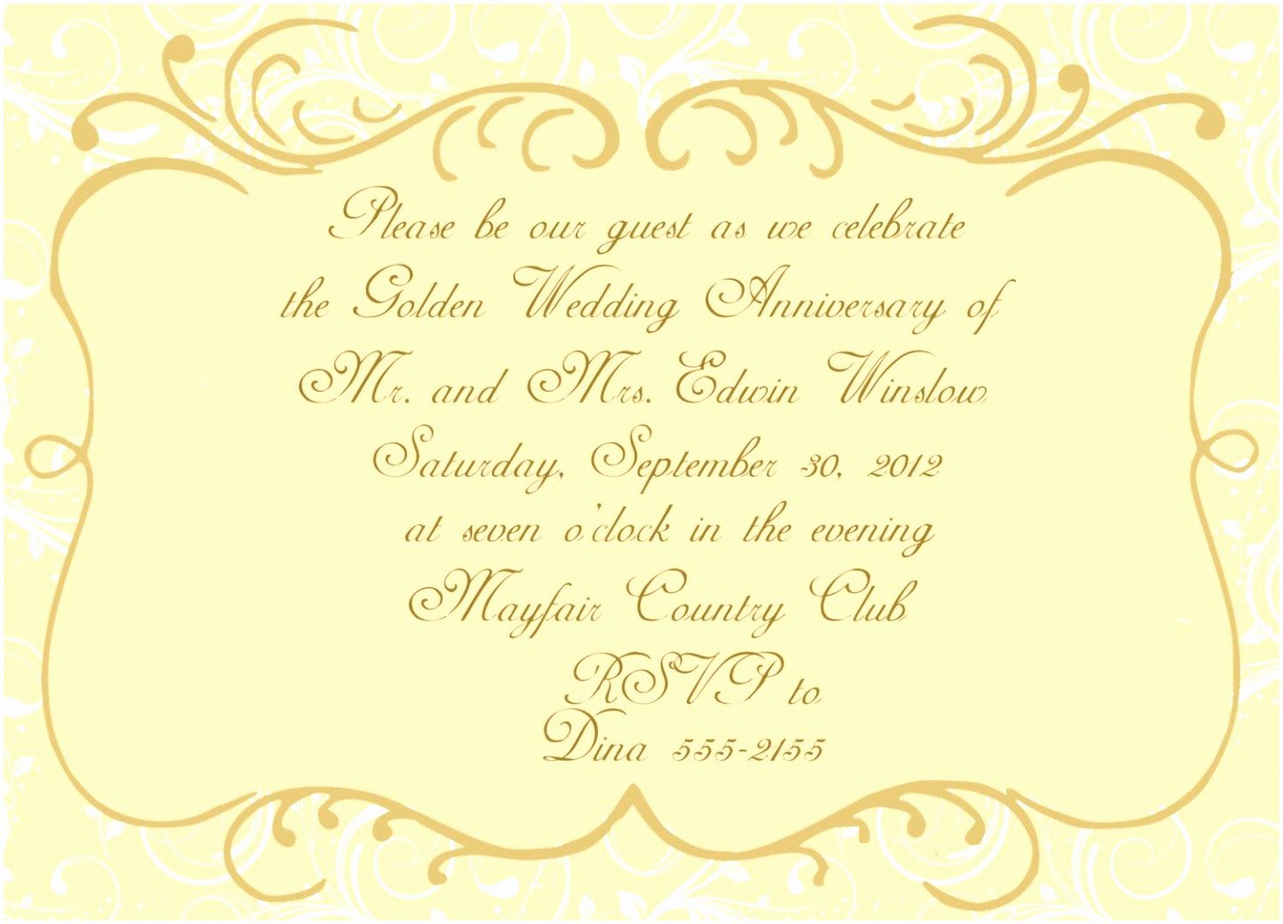 Free 50th Anniversary Invitation Templates Inspirational 5 Golden Anniversary Invitation Templates Yaptw