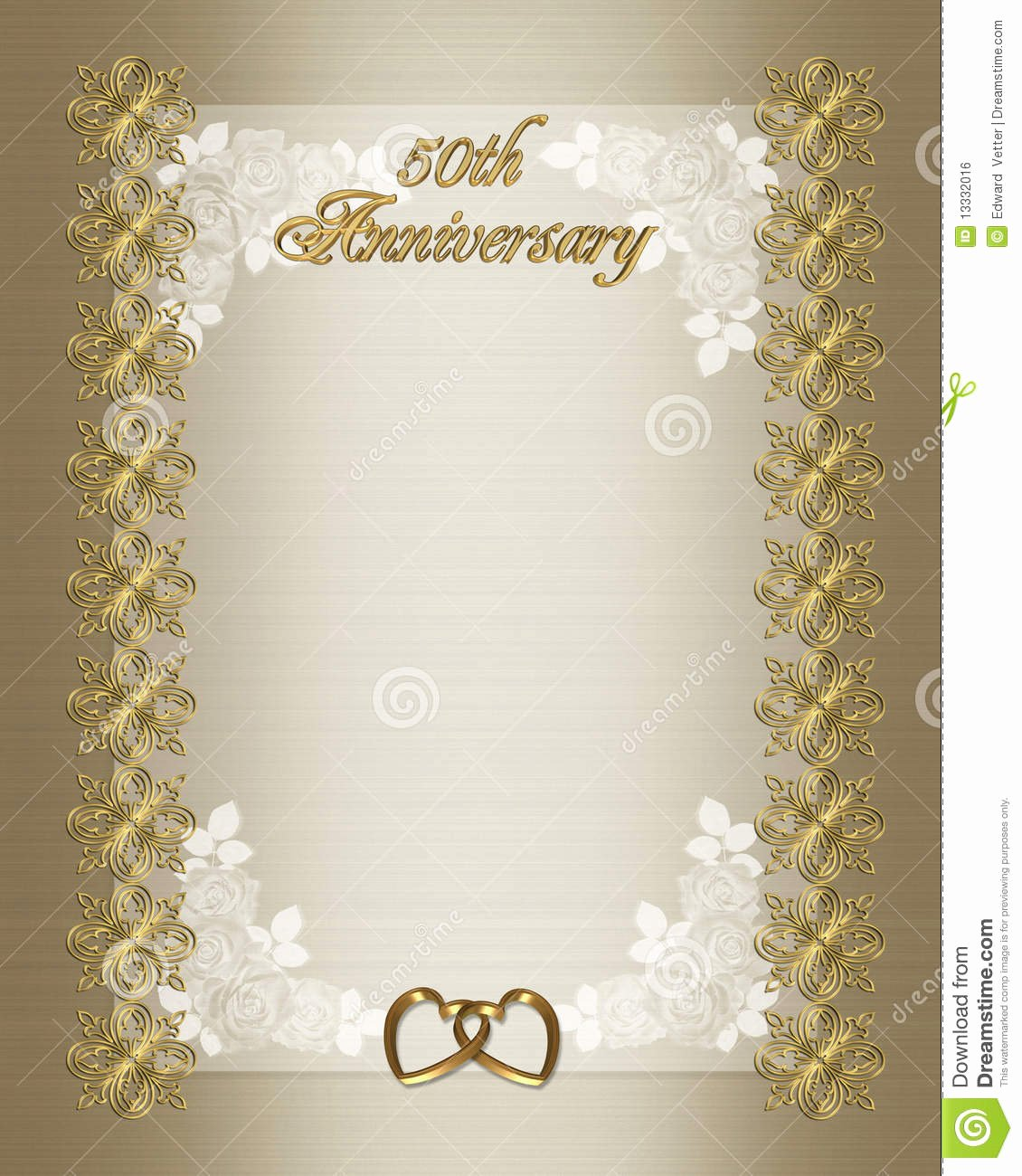 Free 50th Anniversary Invitation Templates Lovely 50th Wedding Anniversary Invitation Template Stock
