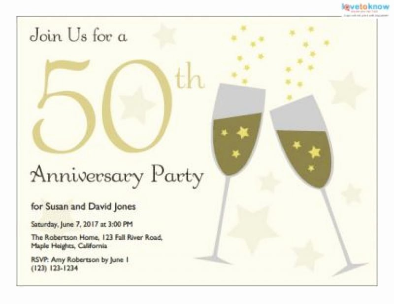Free 50th Anniversary Invitation Templates Lovely 50th Wedding Anniversary Invitation Templates Free