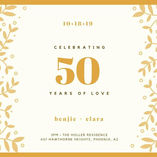 Free 50th Anniversary Invitation Templates Lovely Customize 388 50th Anniversary Invitation Templates