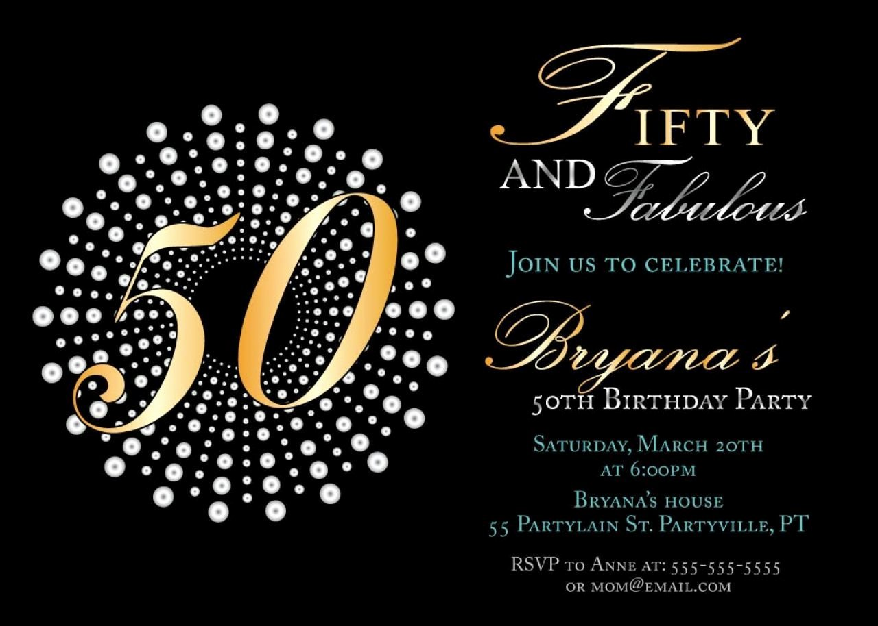 Free 50th Anniversary Invitation Templates Luxury Create Own 50th Birthday Invitations Free Templates