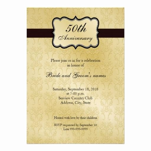 Free 50th Anniversary Invitation Templates Unique 50th Anniversary Invitations