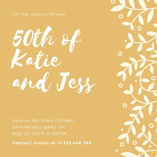 Free 50th Anniversary Invitation Templates Unique Customize 1 796 50th Anniversary Invitation Templates