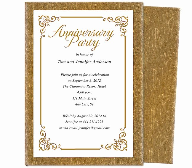 Free 50th Anniversary Invitation Templates Unique Wedding Anniversary Party Templates Laurel Wedding