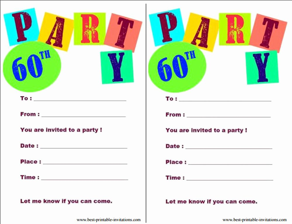 Free 60th Birthday Invitations Templates Awesome 20 Ideas 60th Birthday Party Invitations Card Templates