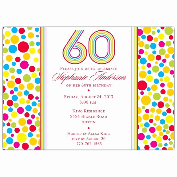 Free 60th Birthday Invitations Templates Awesome Free 60th Birthday Invitation Templates — Birthday