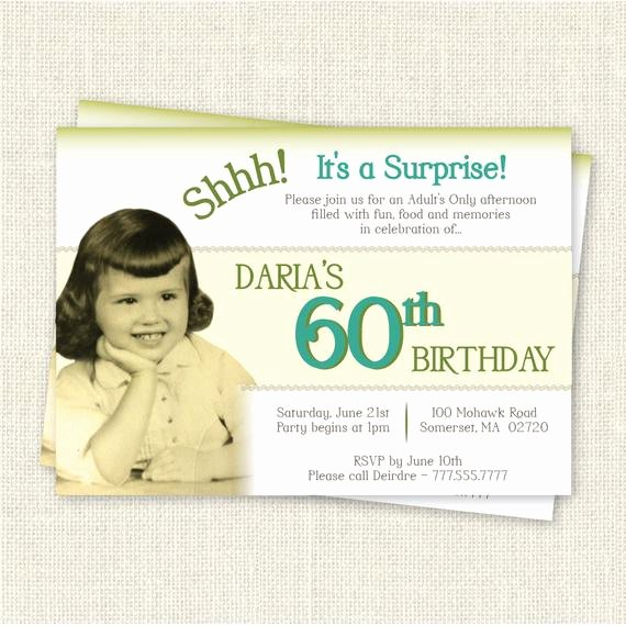 Free 60th Birthday Invitations Templates Awesome Surprise 60th Birthday Invitation Digital Printable File