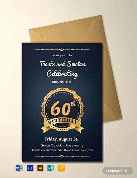 Free 60th Birthday Invitations Templates Beautiful 128 Free Birthday Invitation Templates Word