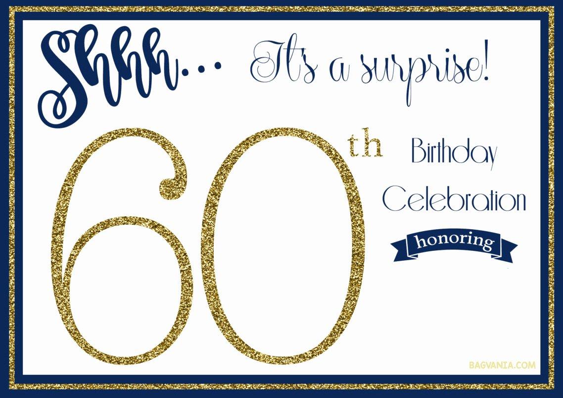 Free 60th Birthday Invitations Templates Beautiful Free Printable 60th Birthday Invitation Templates