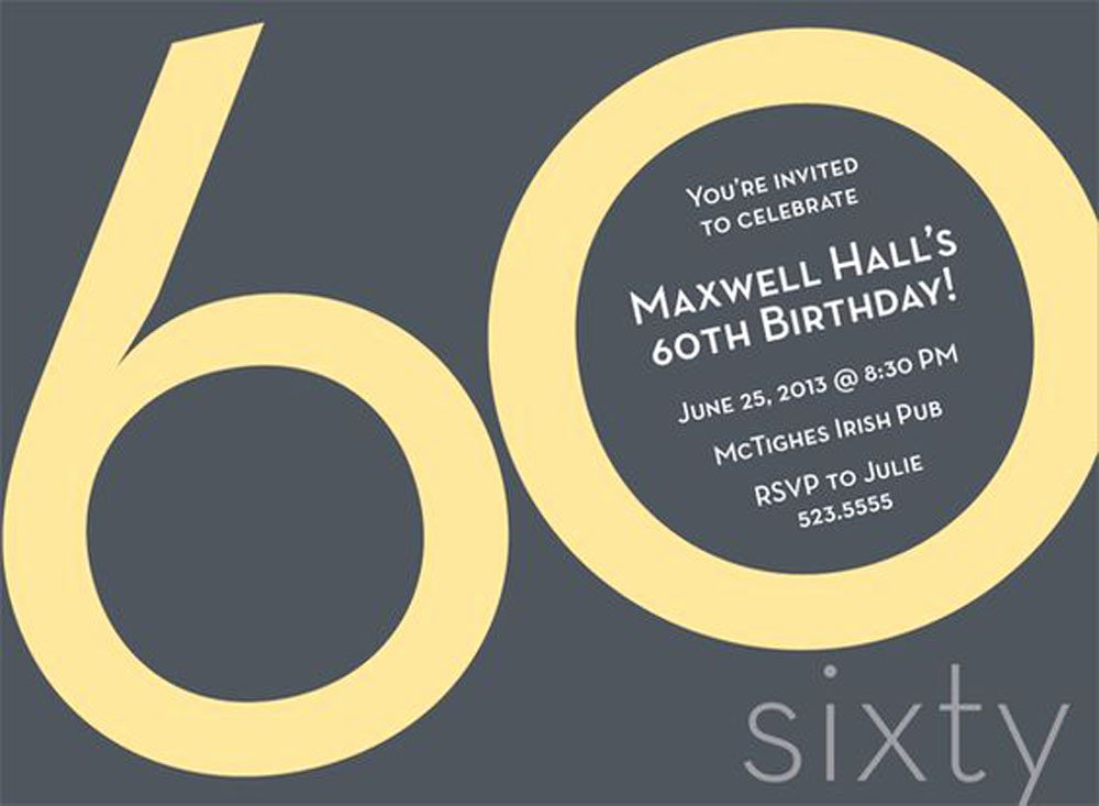 Free 60th Birthday Invitations Templates Elegant 20 Ideas 60th Birthday Party Invitations Card Templates
