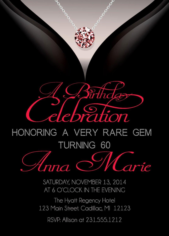 Free 60th Birthday Invitations Templates Inspirational 60th Birthday Invitations Adult Birthday Invitation