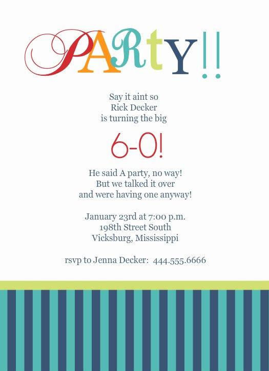 Free 60th Birthday Invitations Templates Luxury 40th Birthday Ideas Birthday Invitation Templates 60th