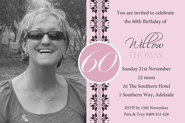Free 60th Birthday Invitations Templates Luxury 60th Birthday Invites – Free Printable Birthday Invitation