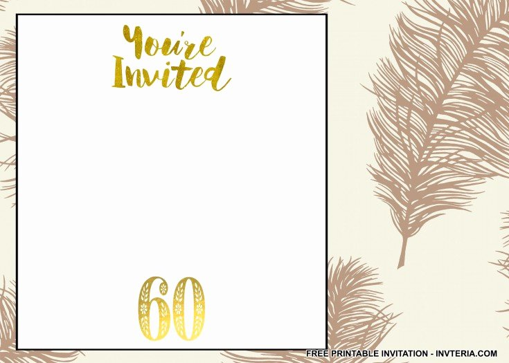 Free 60th Birthday Invitations Templates Luxury Others Personalize Your Own 60th Birthday Invitations for