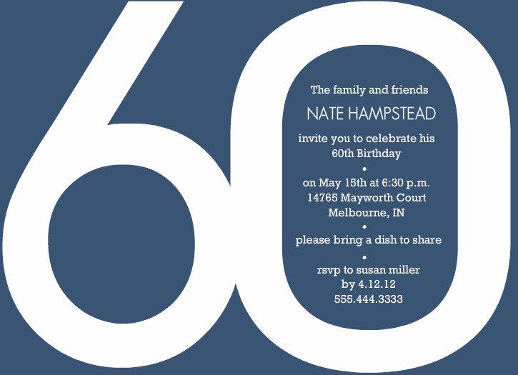Free 60th Birthday Invitations Templates New 13 Best S Of Printable Birthday Party Program
