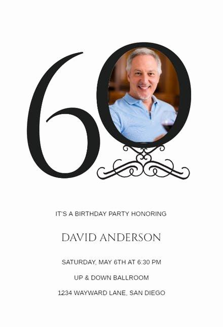 Free 60th Birthday Invitations Templates Unique 60th Birthday Invitation Templates Free
