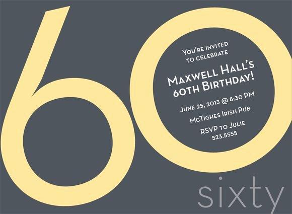 Free 60th Birthday Invitations Templates Unique Best 25 60th Birthday Invitations Ideas On Pinterest