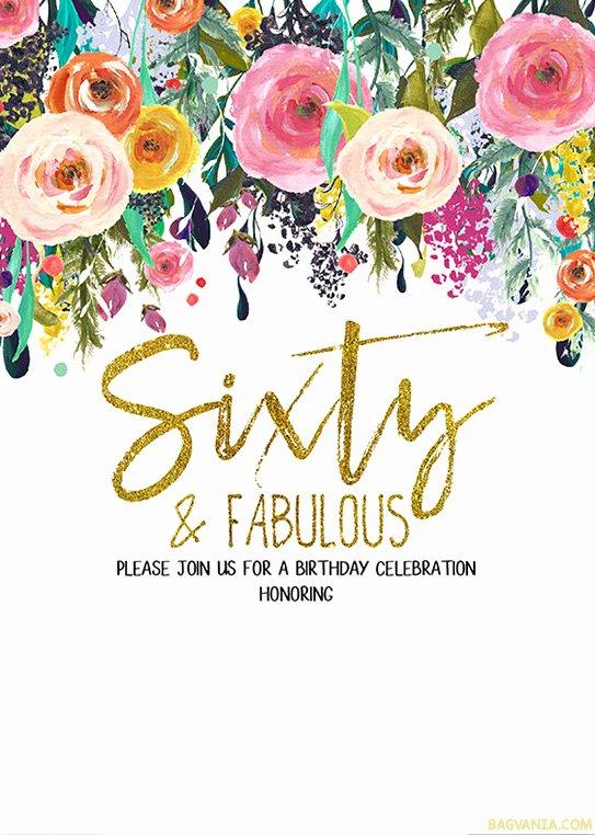Free 60th Birthday Invitations Templates Unique Free Printable 60th Birthday Invitation Templates