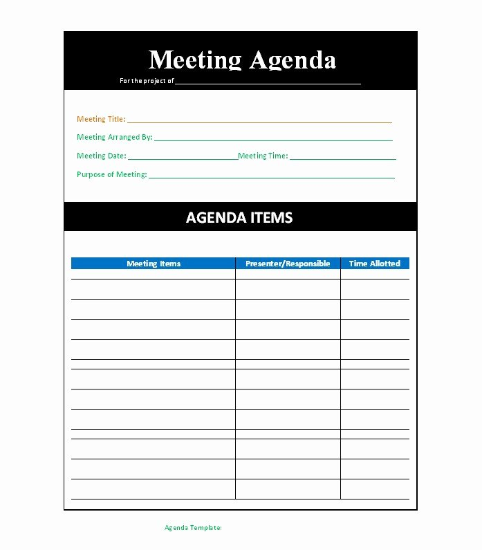 Free Agenda Templates for Word Beautiful 51 Effective Meeting Agenda Templates Free Template