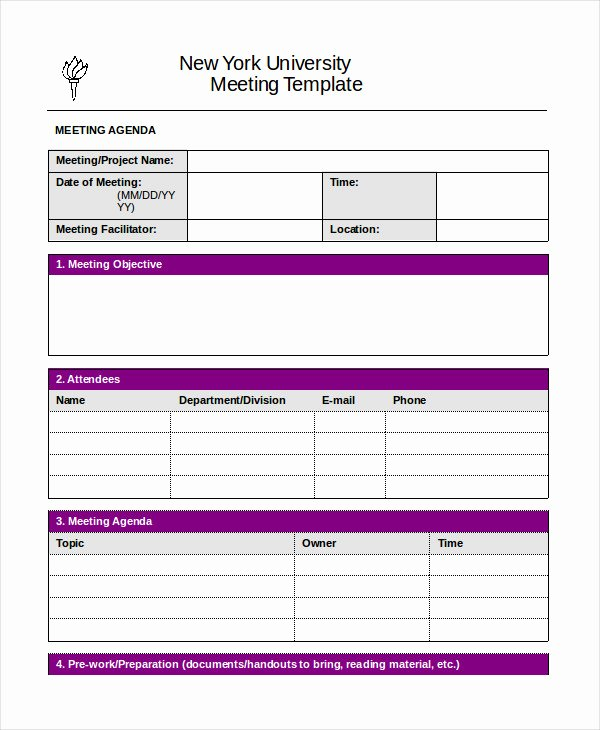 Free Agenda Templates for Word Fresh Word Agenda Template 6 Free Word Documents Download