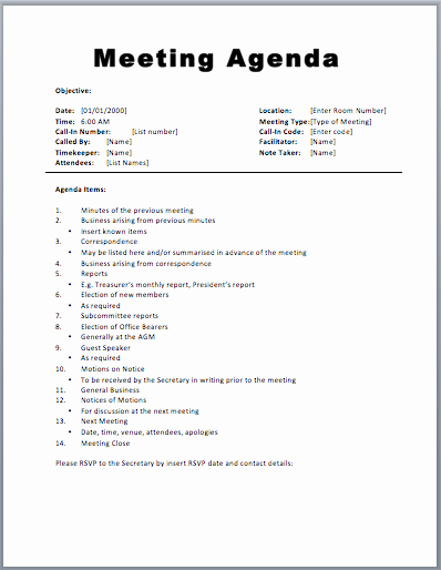 Free Agenda Templates for Word Lovely Basic Meeting Agenda Template