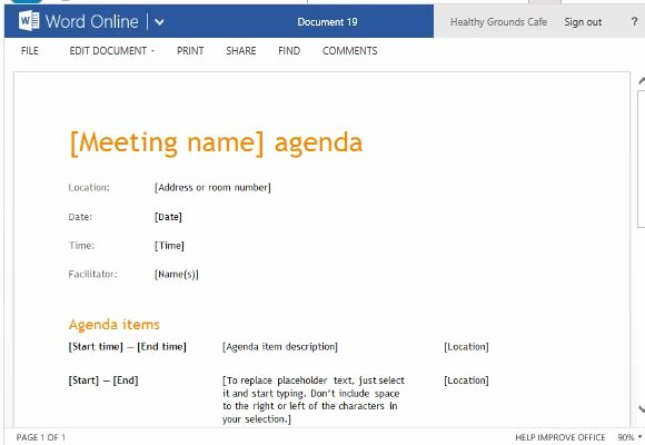 Free Agenda Templates for Word Luxury Business Meeting Agenda Template for Word Line