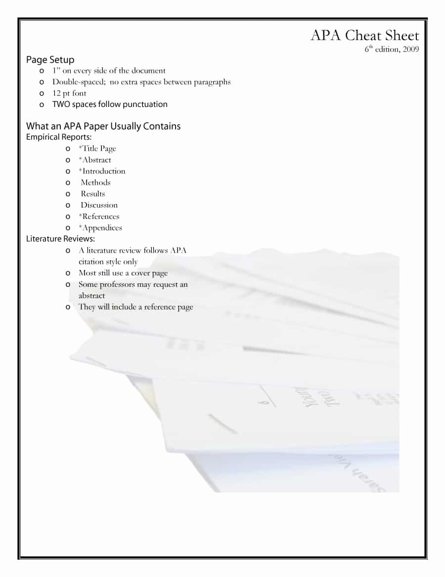 Free Apa format Template Fresh 40 Apa format Style Templates In Word & Pdf