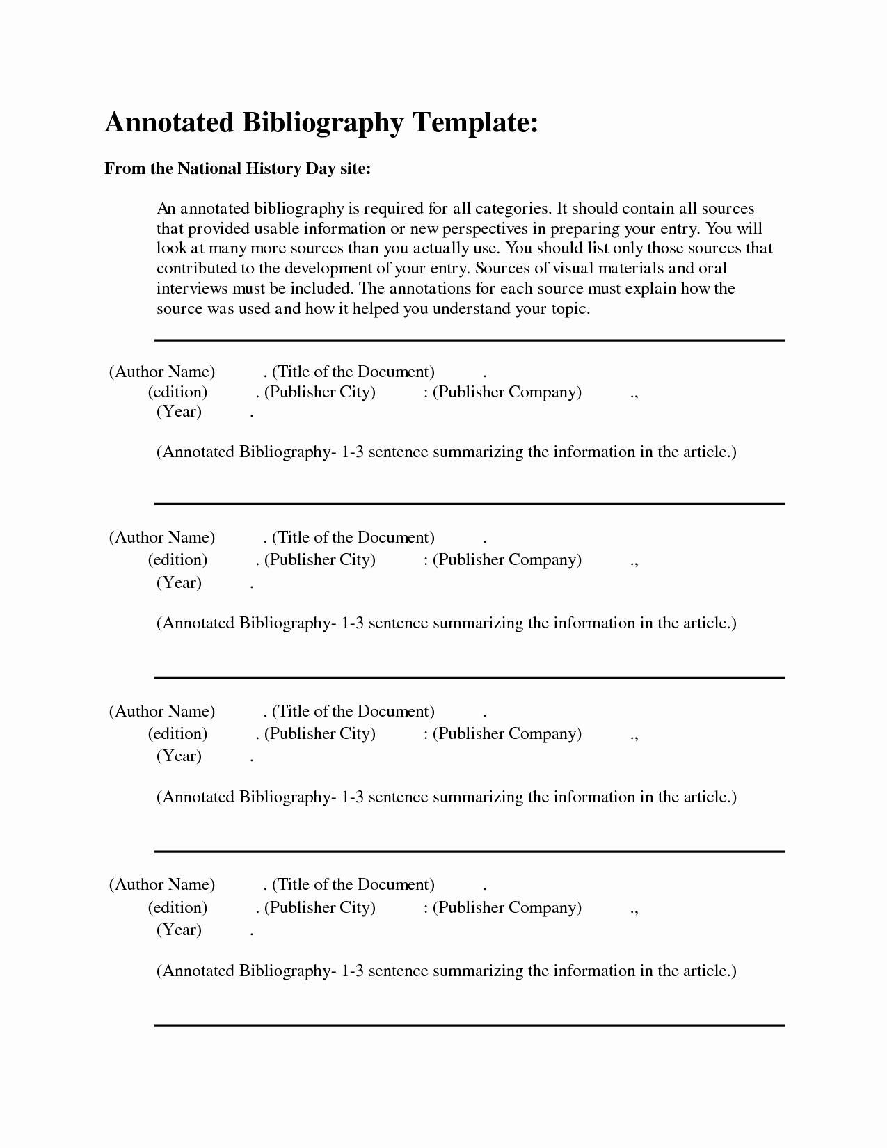 Free Apa format Template Inspirational Free Apa Annotated Bibliography Template