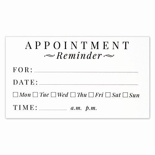 Free Appointment Card Template Awesome Appointment Cards Amazon