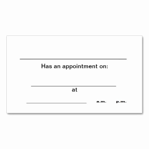 Free Appointment Card Template Beautiful 238 Best Appointment Business Cards Images On Pinterest