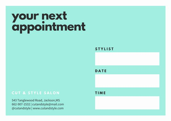 Free Appointment Card Template Beautiful Customize 31 Appointment Card Templates Online Canva