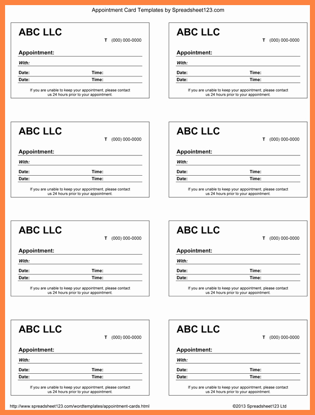 Free Appointment Card Template Best Of 7 Appointment Slip Templates