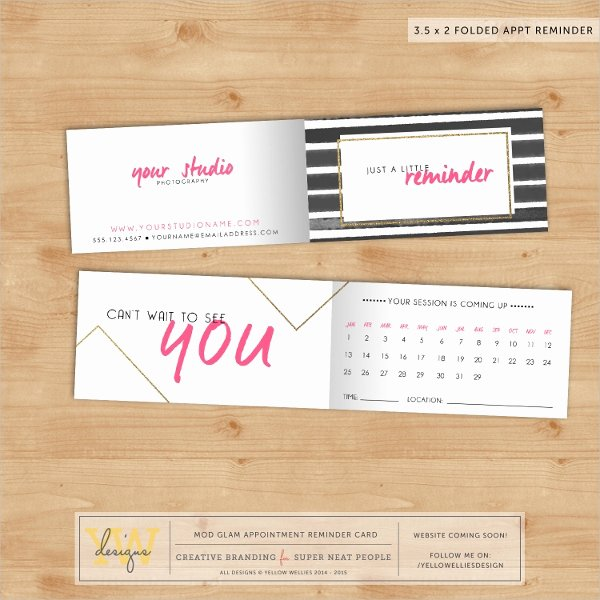 Free Appointment Card Template Inspirational 9 Appointment Card Templates Free Psd Ai Eps format
