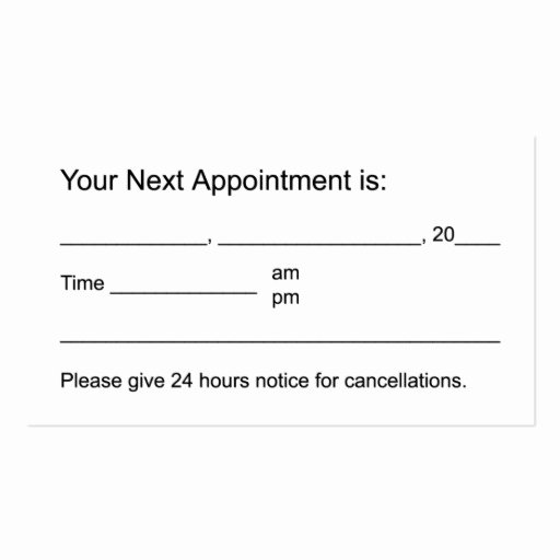 Free Appointment Card Template Inspirational Business Appointment Card Template Stones & Candle