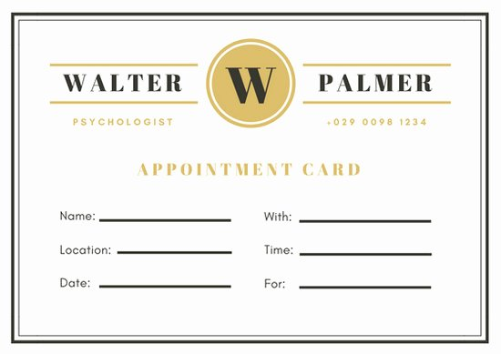 Free Appointment Card Template New Customize 31 Appointment Card Templates Online Canva
