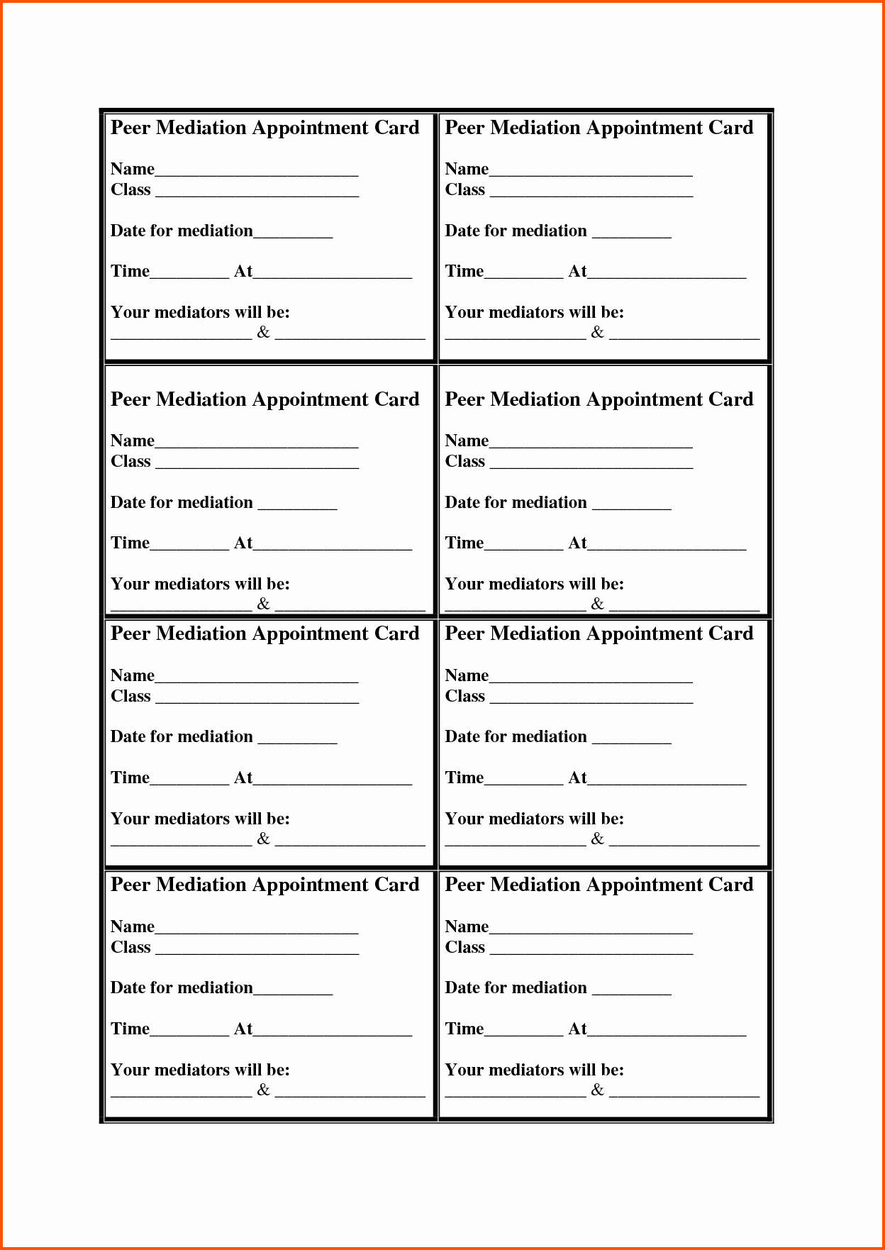 Free Appointment Card Template Unique 12 Appointment Cards
